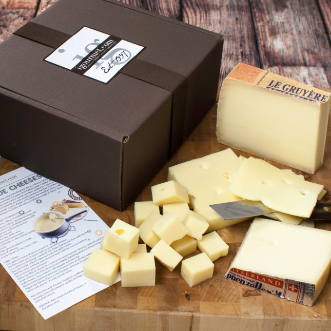 Set of Fondue Cheeses in Gift Box