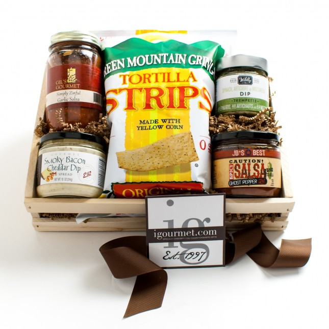 The Gourmet Chips and Dips Gift Crate
