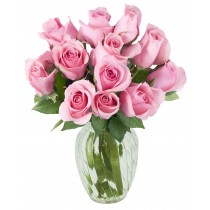 Rosy Kisses (12 Pink Roses)