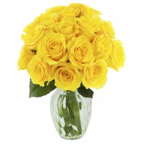 Lemon Squeeze Roses (18 Yellow Roses)